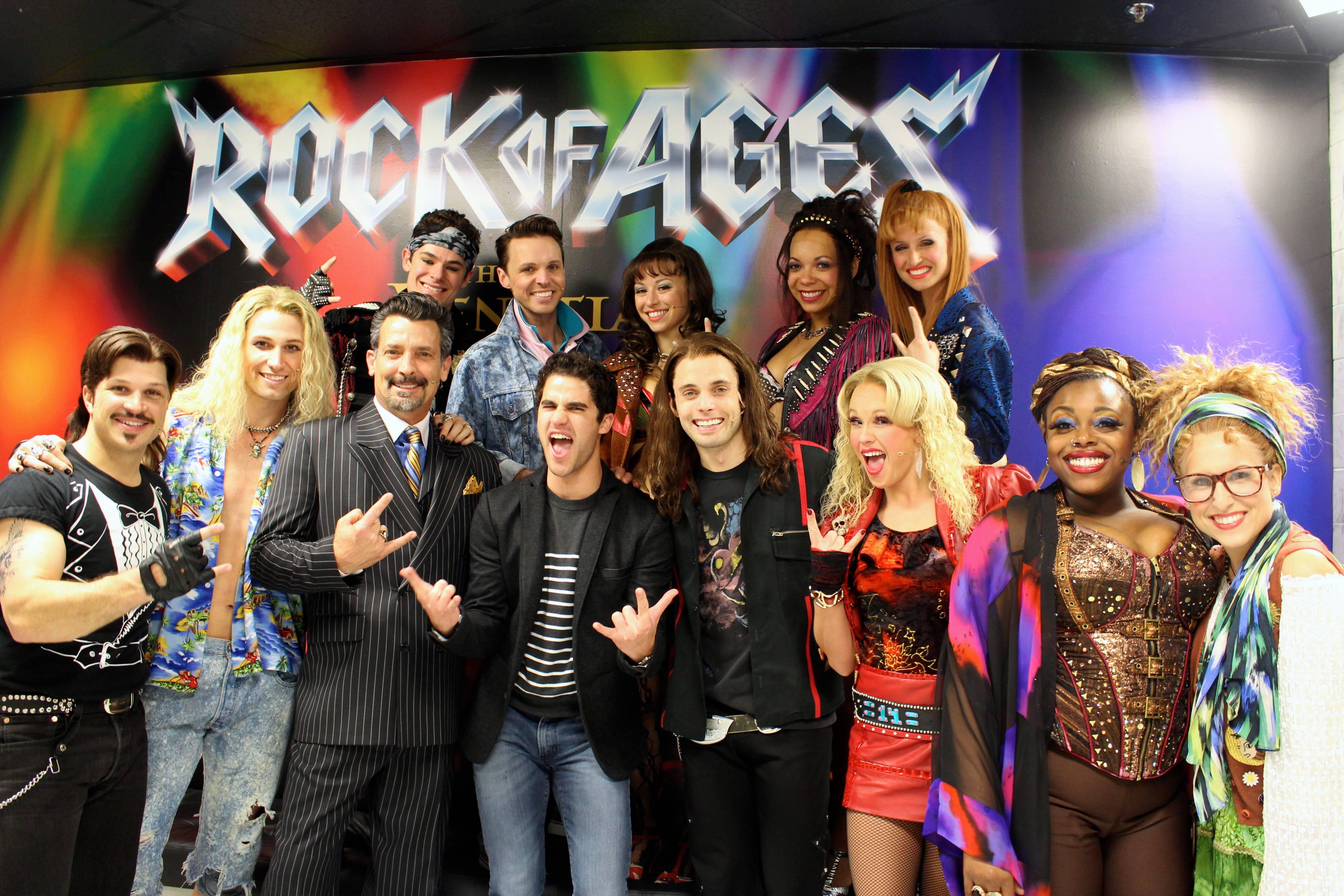 Darren Criss with full cast