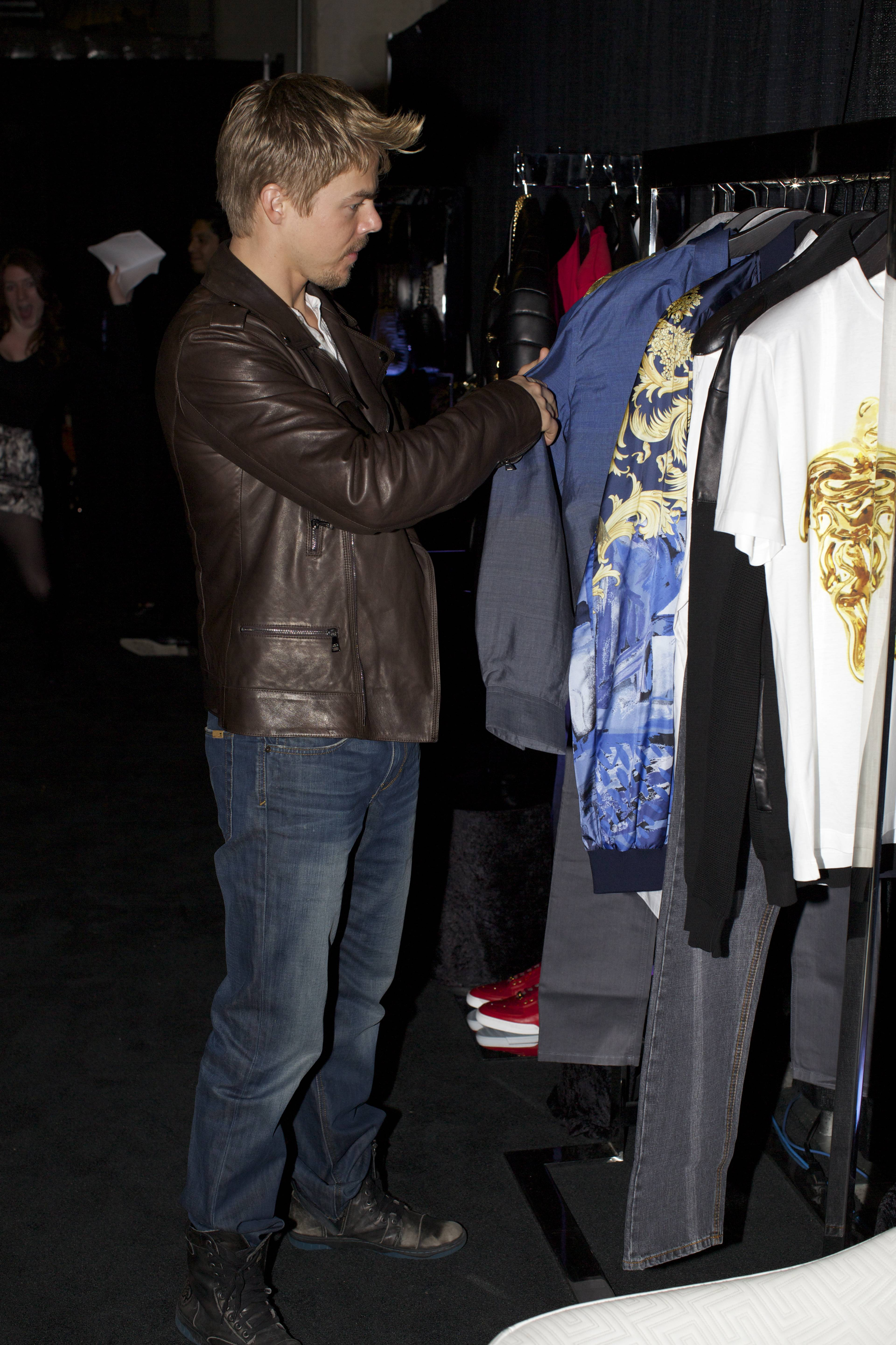 Derek Hough at the Versace Shopping Event benefiting the Lakers Youth Foundation & STAPLES Center Foundation