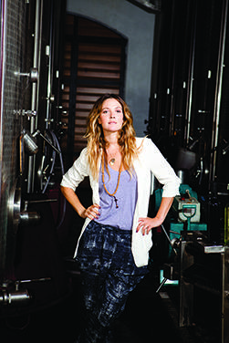 Drew Barrymore, courtesy of Barrymore Wines