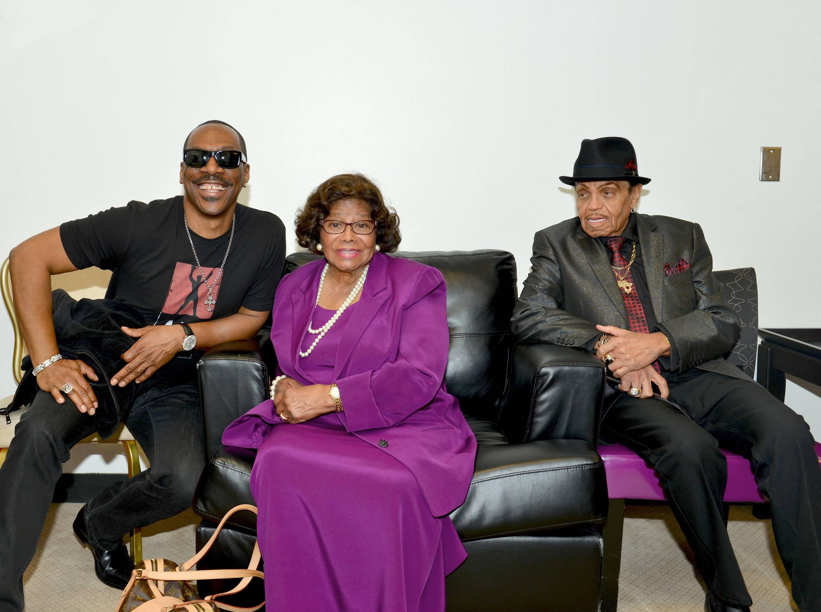 Eddie Murphy, Katherine Jackson and Joe Jackson – Photo credit Claude Van Heye
