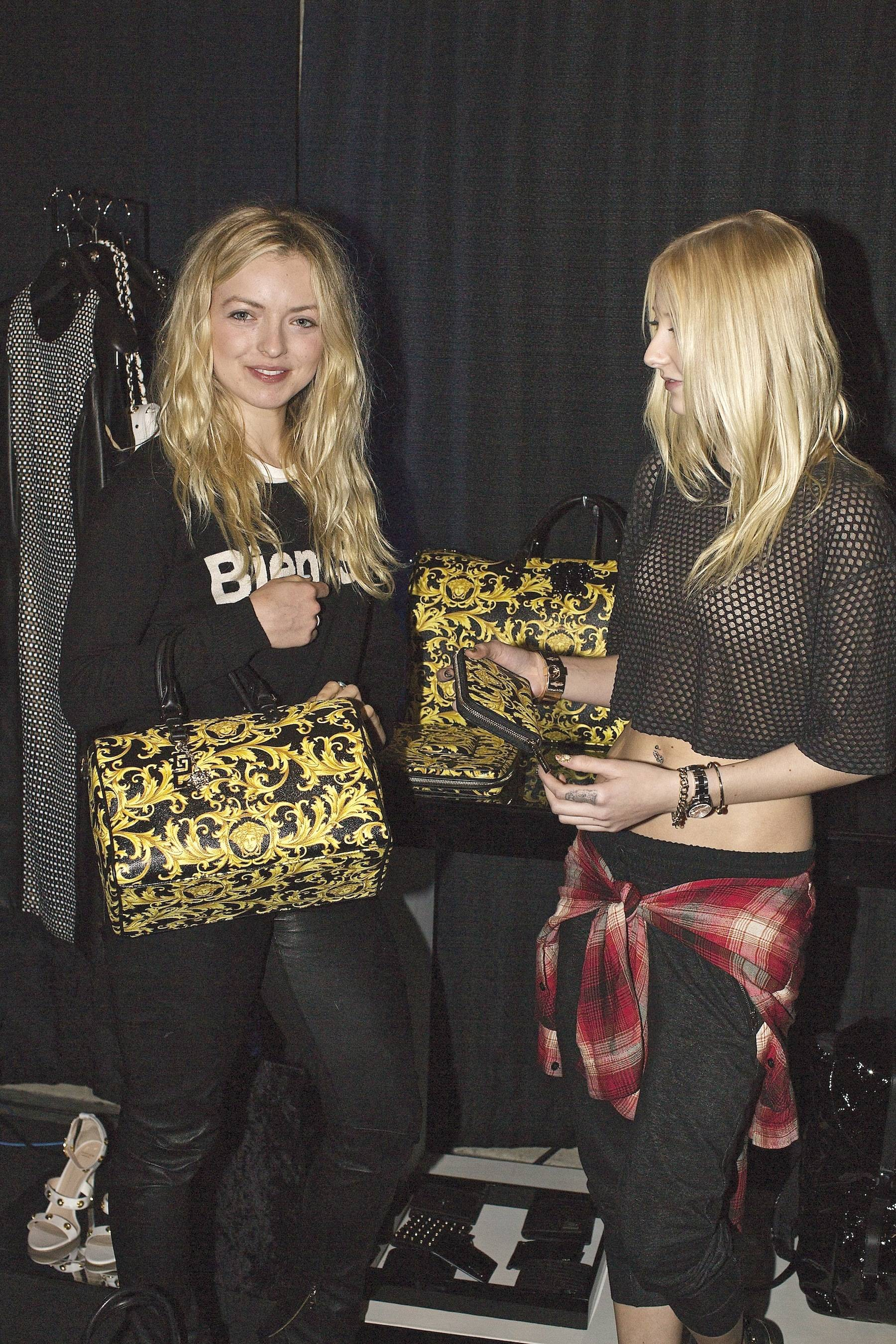 Francesca Eastwood and Vanessa DuBasso at the Versace Shopping Event benefiting the Lakers Youth Foundation & STAPLES Center Foundation