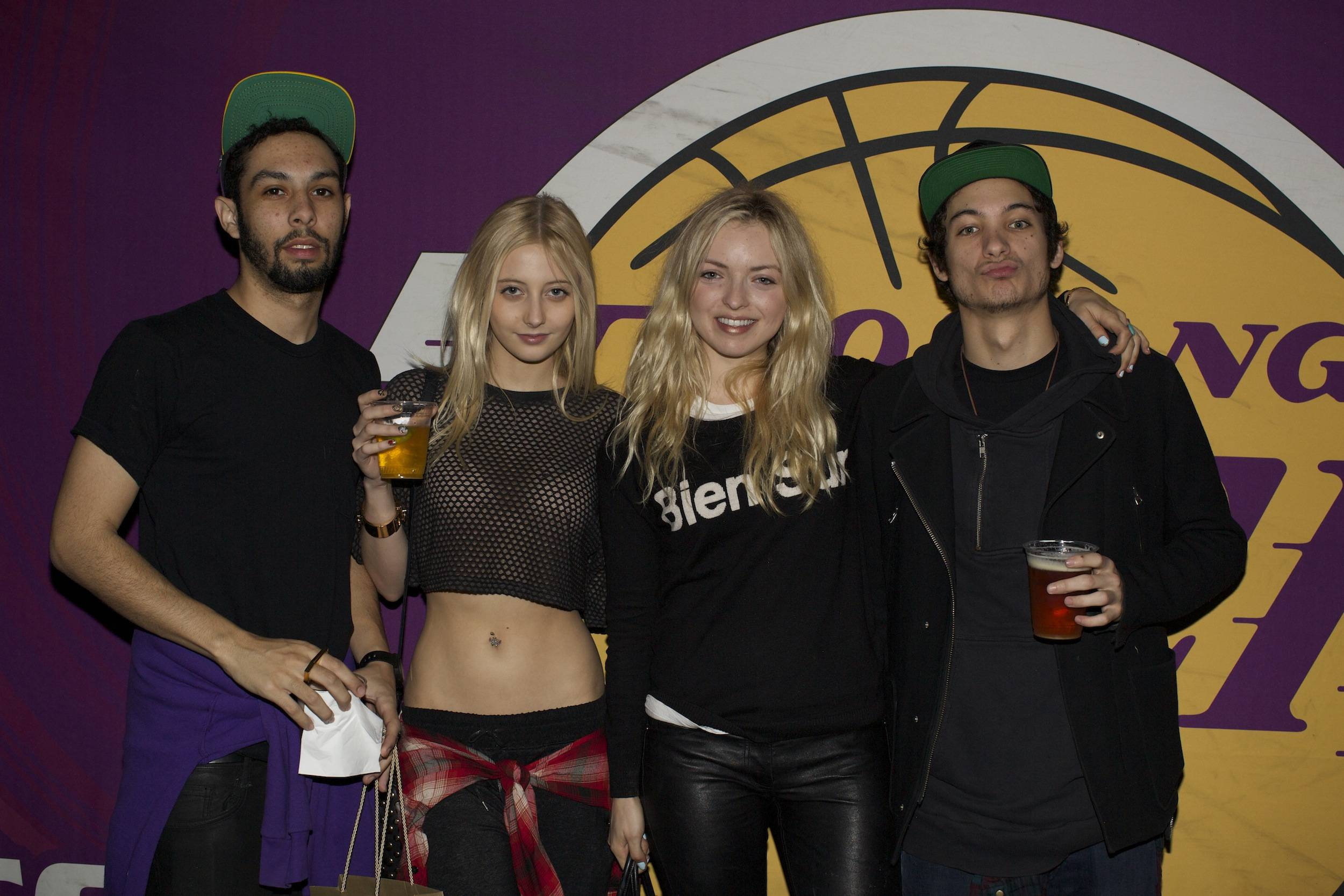 Francesca Eastwood and friends at the Versace Shopping Event benefiting the Lakers Youth Foundation & STAPLES Center Foundation