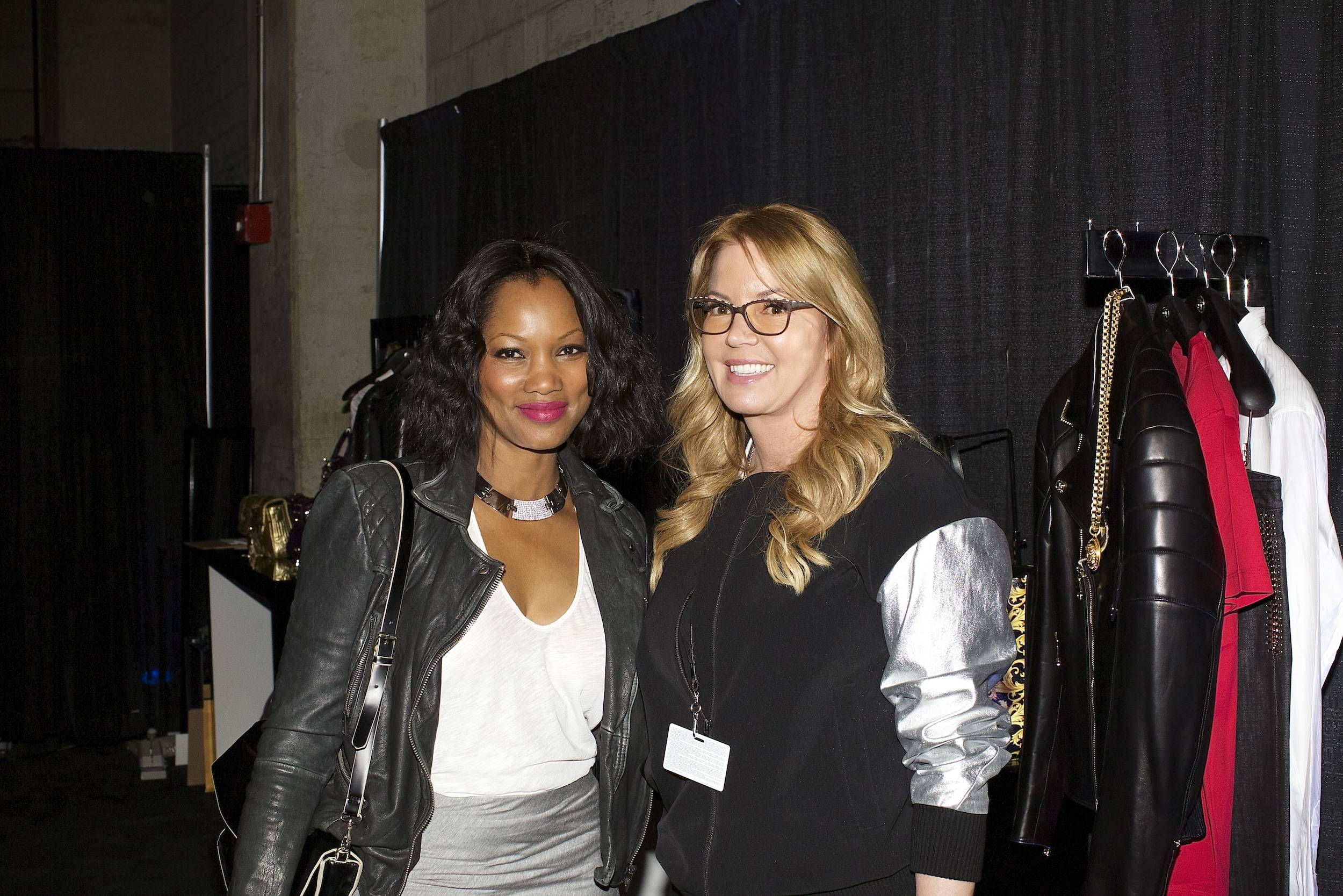 Garcelle Beauvais and Jeanie Buss at the Versace Shopping Event benefiting the Lakers Youth Foundation & STAPLES Center Foundation