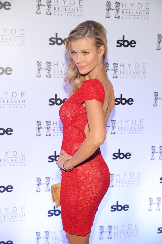 Joanna Krupa at Hyde Bellagio's pre-game bash, Las Vegas, 2.1.14
