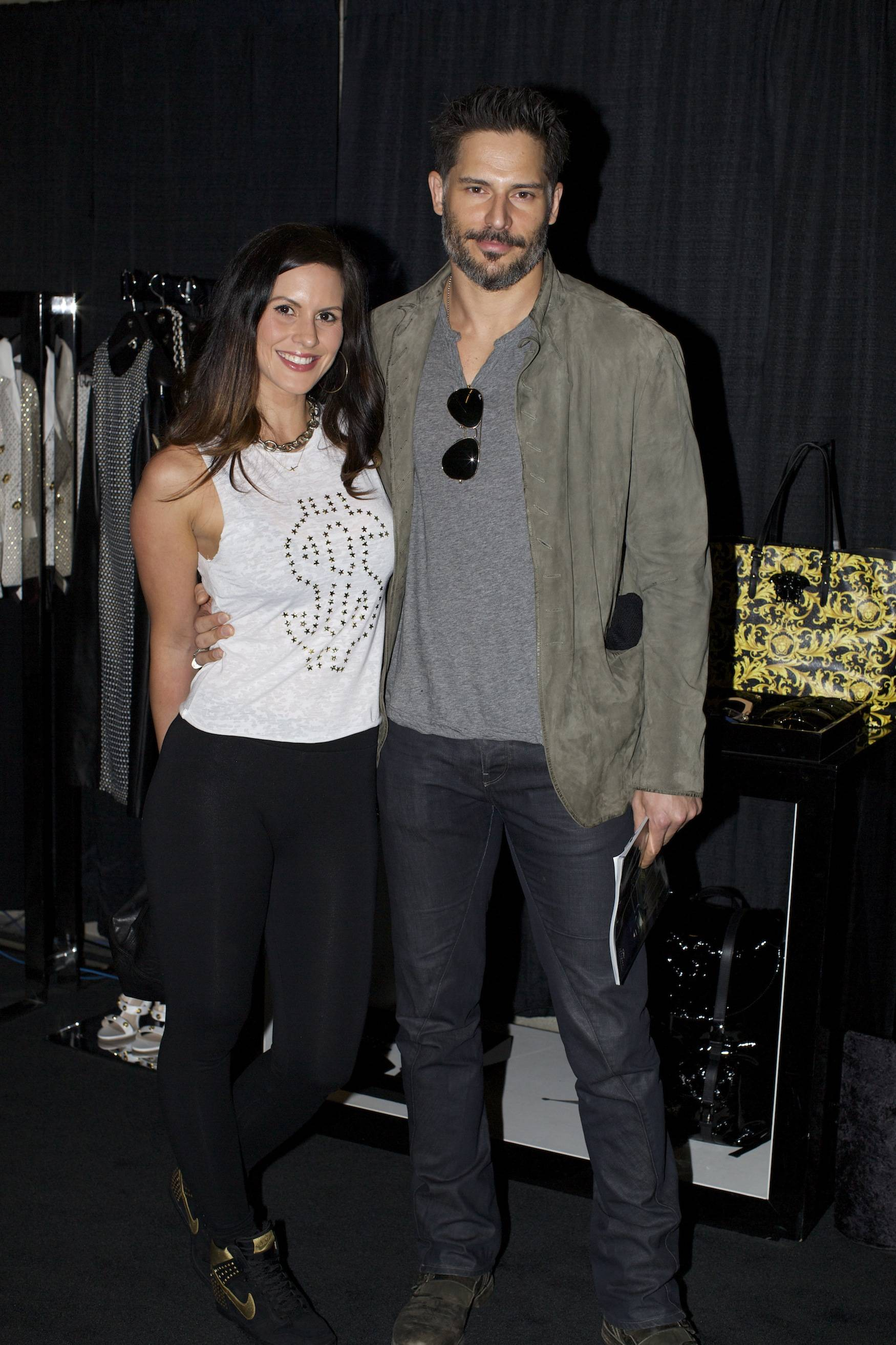 Joe Manganiello and Bridget Peters at the Versace Shopping Event benefiting the Lakers Youth Foundation & STAPLES Center Foundation
