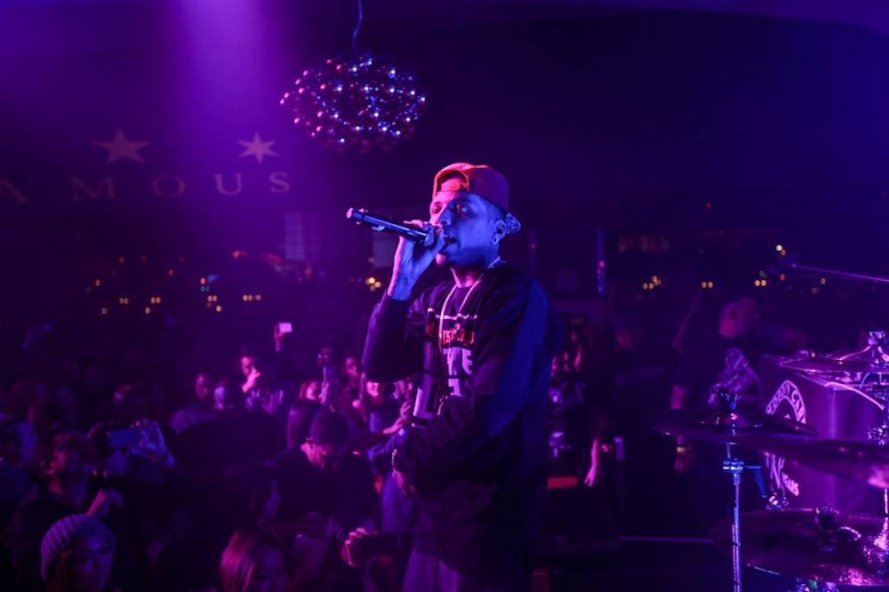 Kid Ink raps at Famous Stars and Straps 15th Anniversary at Hyde Bellagio, Las Vegas, 2.18.14
