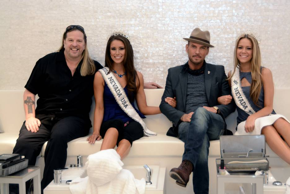 Michael Boychuck, Miss Nevada USA Nia Sanchez, Matt Goss and Miss Nevada Teen USA Alexa Taylor