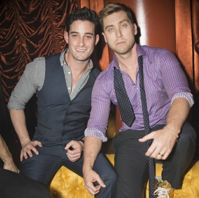 Michael Turchin and Lance Bass. Photo: Aaron Garcia