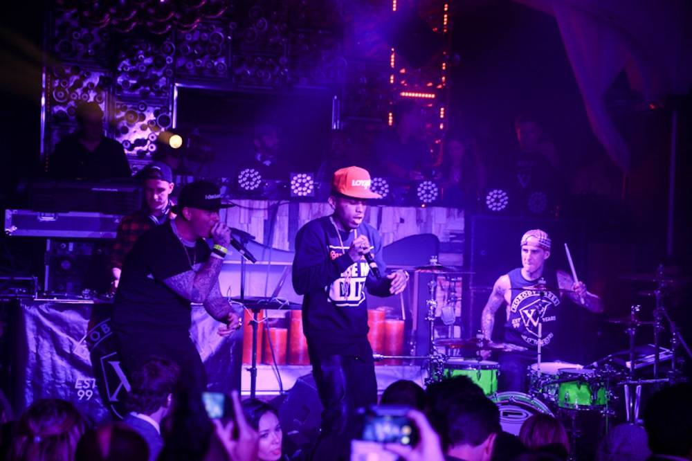 Paul Wall, Kid Ink & Travis Barker perform at Hyde Bellagio, Las Vegas, 2.18.14