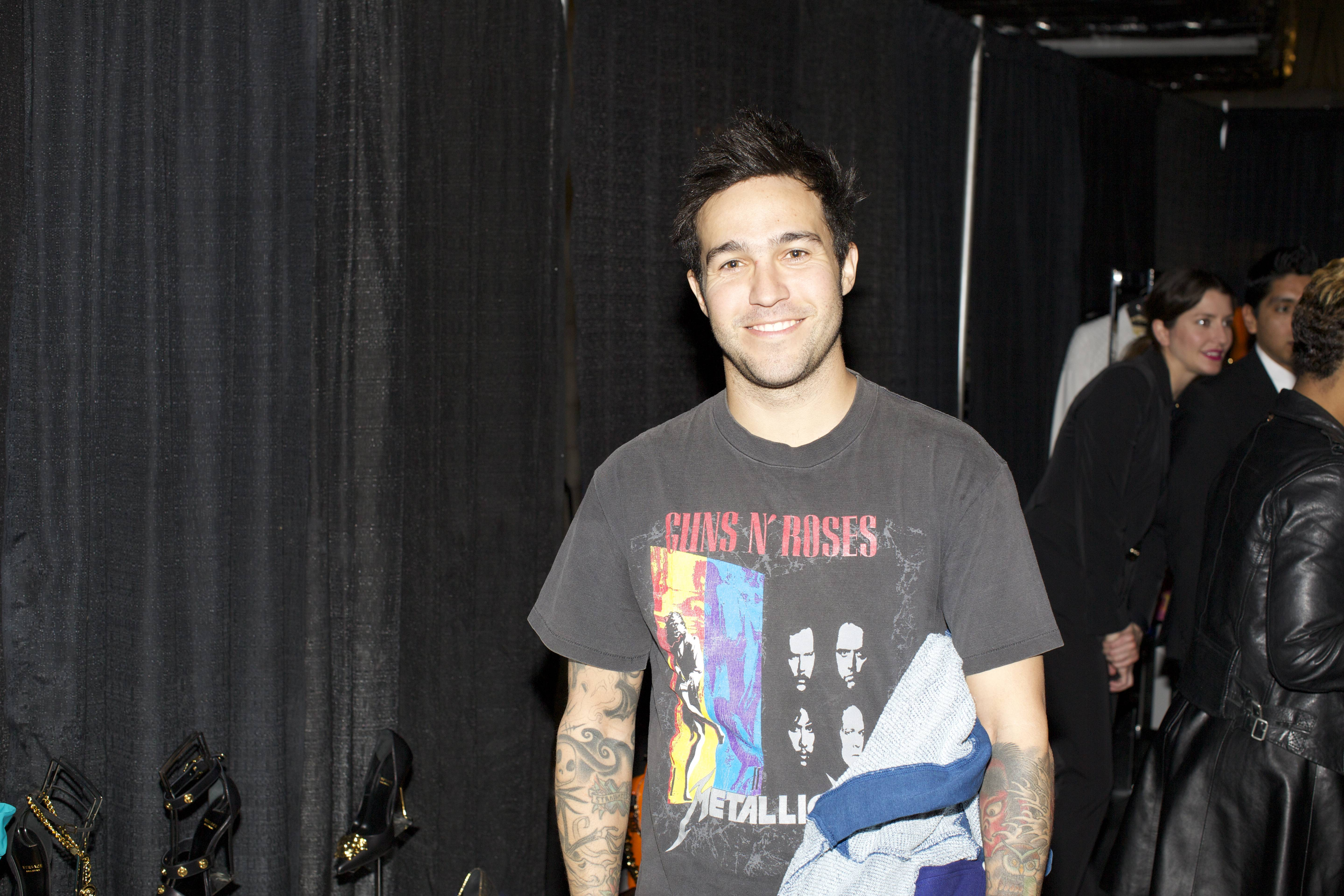 Pete Wentz at the Versace Shopping Event benefiting the Lakers Youth Foundation & STAPLES Center Foundation