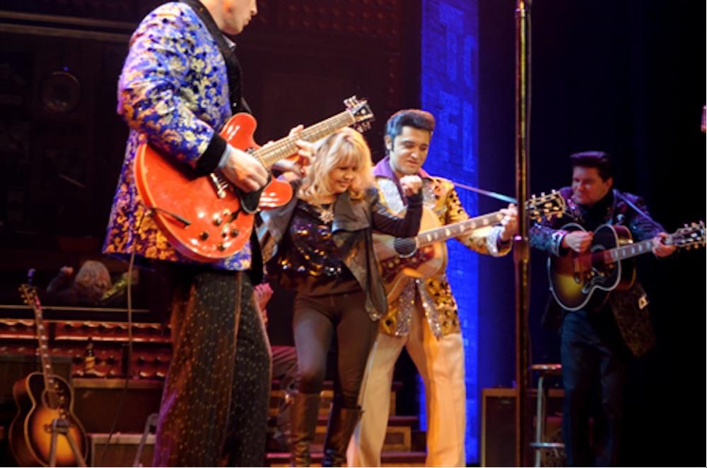 Pia Zadora Jams with Million Dollar Quartet 2.4.14 ©Caesars Entertainment