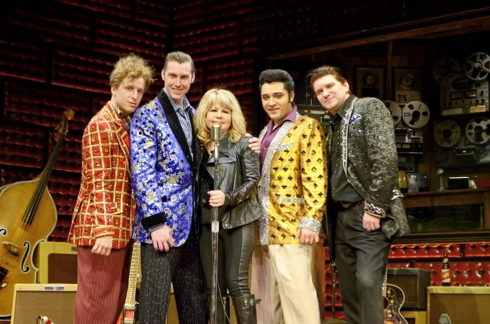 Pia Zadora with Cast of Million Dollar Quartet Las Vegas 2.4.14 ©Caesars Entertainment