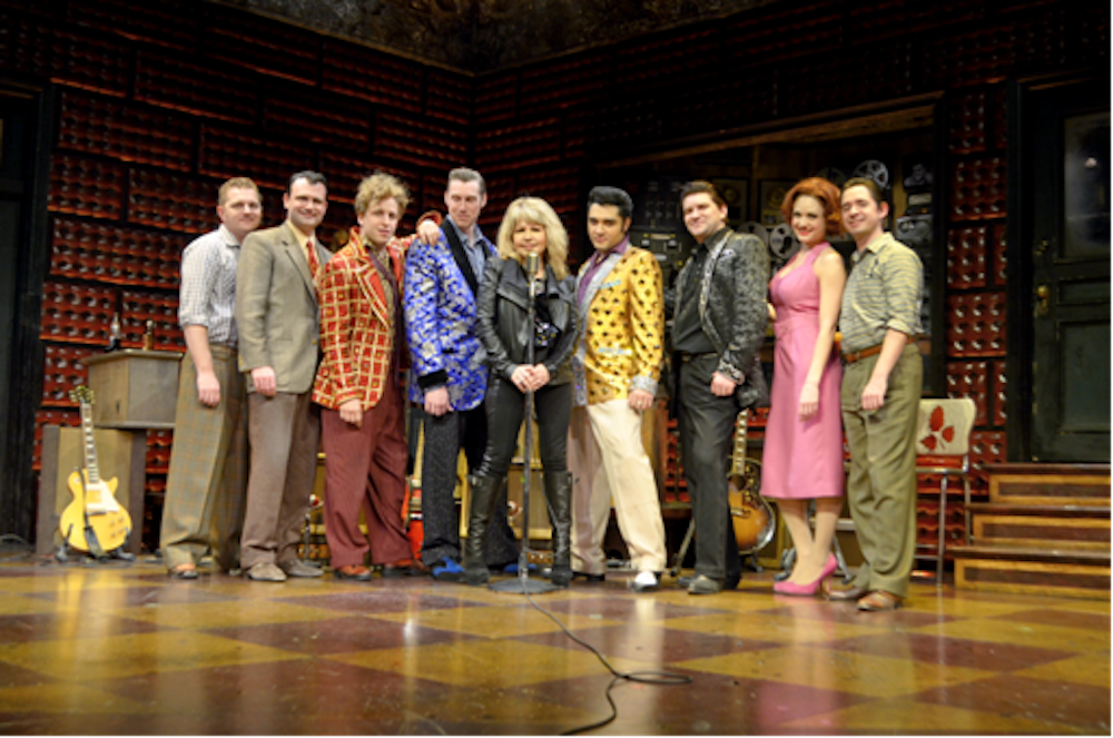 Pia Zadora with Las Vegas Company of Million Dollar Quartet 2.4.14 ©Caesars Entertainment