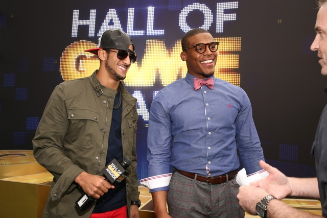 Red Carpet- Cam Newton and Colin Kaepernick