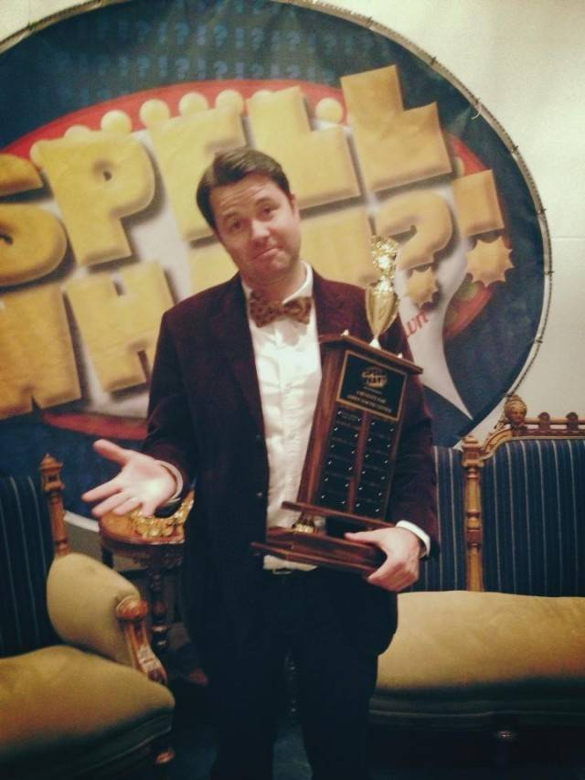 Oliver Sharpe, the 2013 winner of Spell What?!