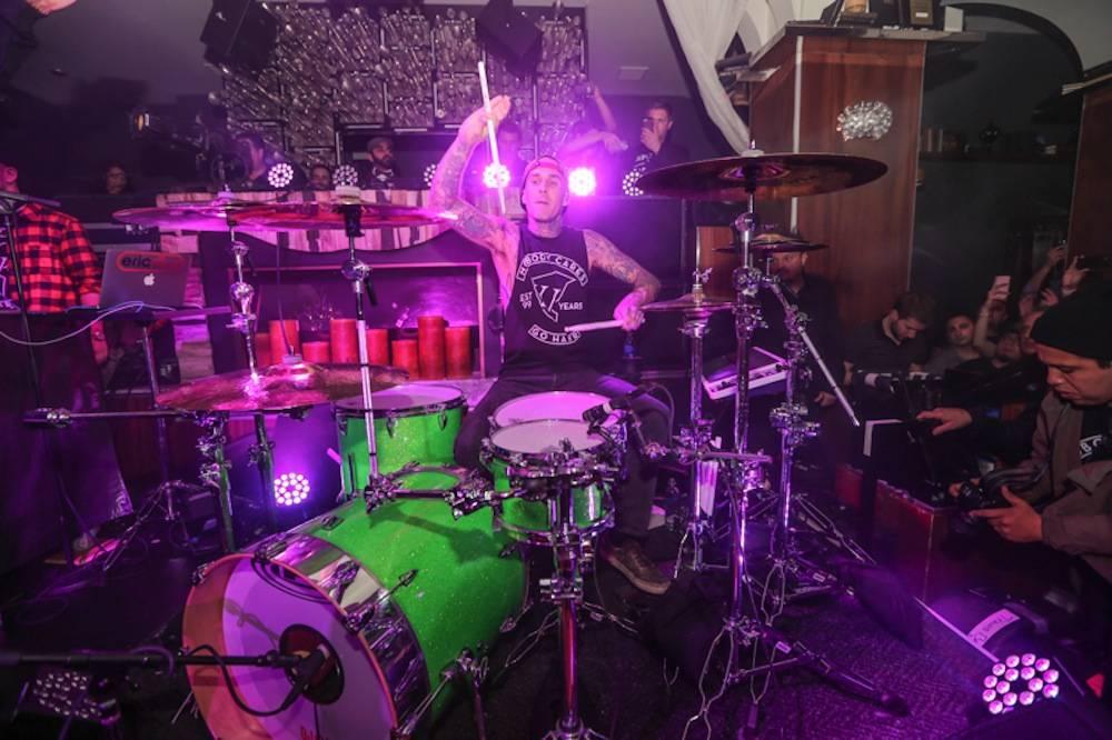 Travis Barker drums at Hyde Bellagio, Las Vegas, 2.18.14