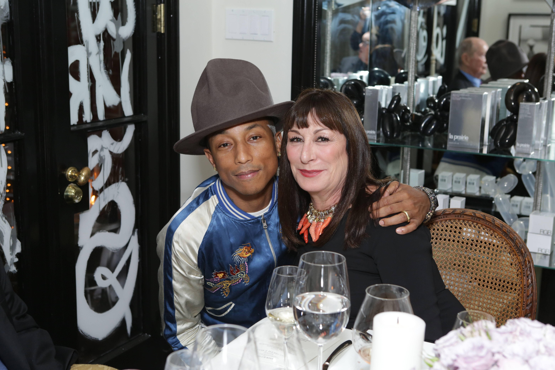 VioletGrey_She's So Violet Salon Dinner_Elizabeth Taylor_Pharrell Williams, Anjelica Huston