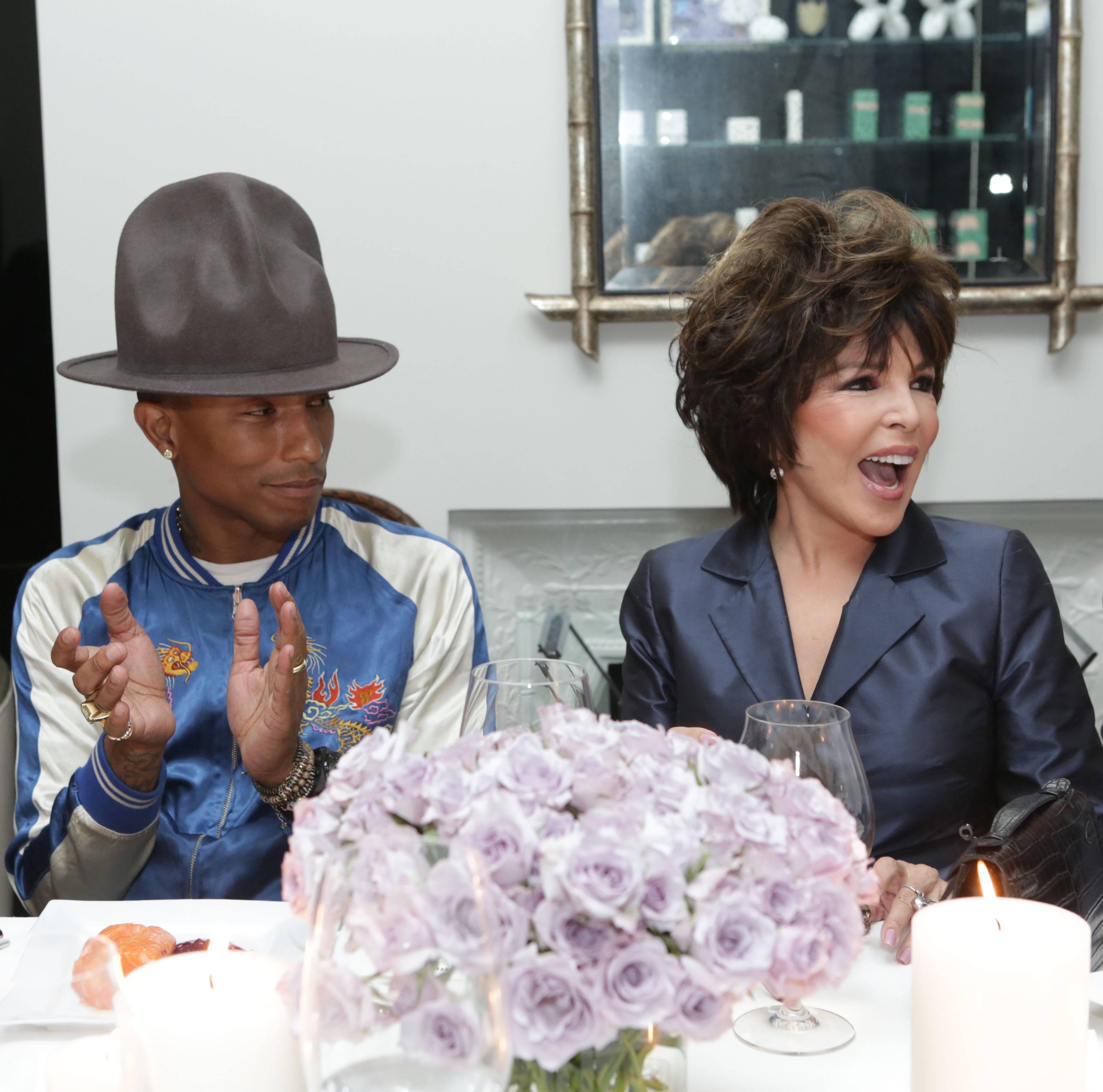 VioletGrey_She's So Violet Salon Dinner_Elizabeth Taylor_Pharrell Williams, Carole Bayer Sager