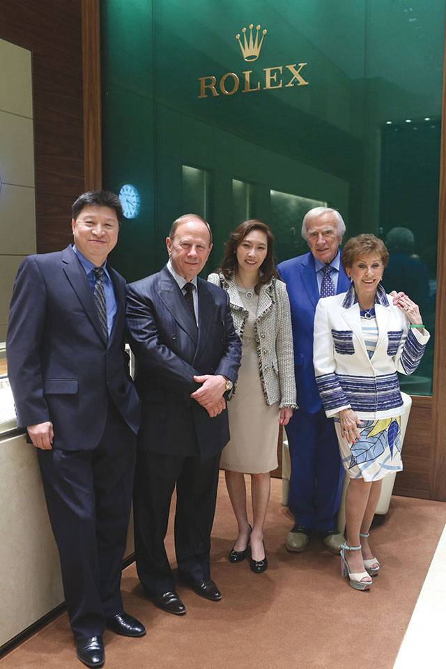 John Zhu, Robert Baumgardner, Jenny Zhu, Seymore and Evelyn Holtzman