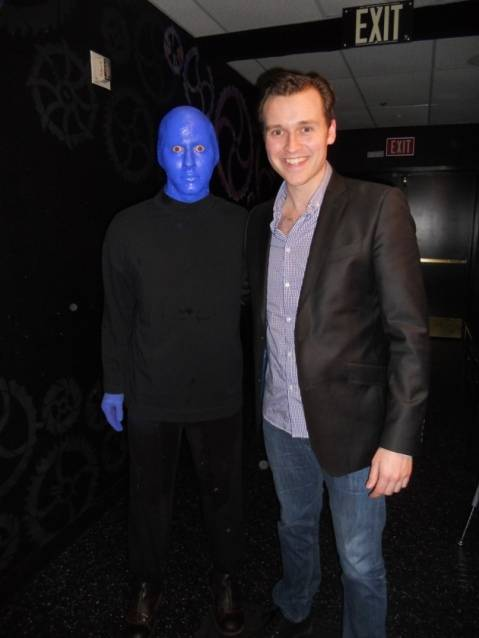 Rob Marnell at Blue Man Group in Monte Carlo