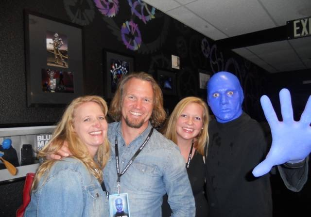 Christine, Kody and Aspyn Brown at Blue Man Group.