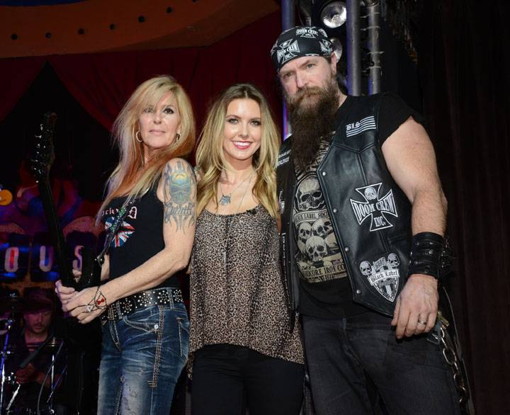 Audrina Patridge, Lita Ford and Zakk Wylde Pose Together After Performing During RRFC at Mandalay Bay 3.2.14