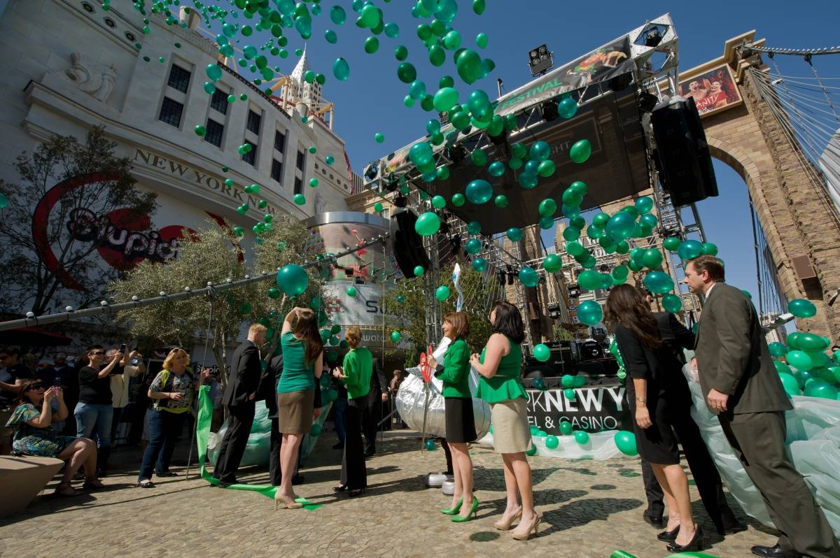 Balloon Release at New York-New York's Ribbon Cutting (2)