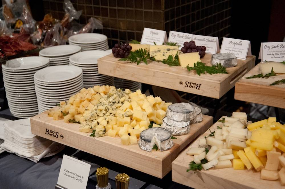 California cheese and chatcuterie display