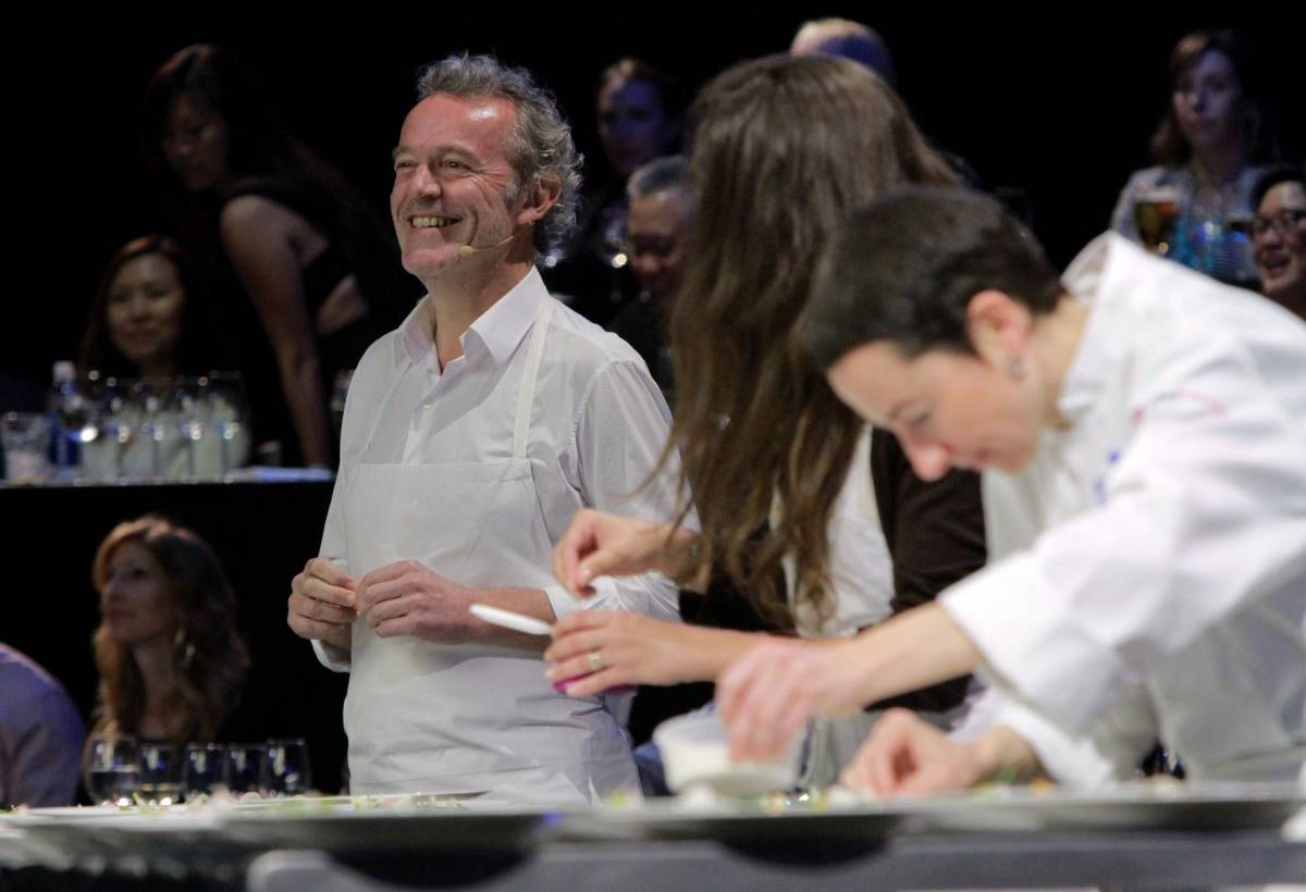 Chef Alain Passard at L.A. LIVE All-Star Chef Classic French Masters Dinner Presented by Fisher & Paykel _CreditAndrew Bernstein& Associates photo