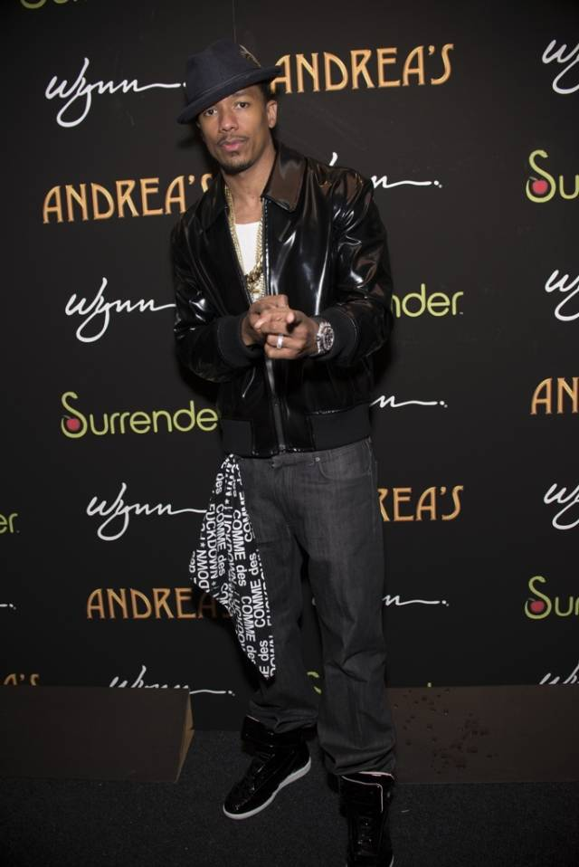 Nick Cannon at Andrea's. Photo: Aaron Garcia
