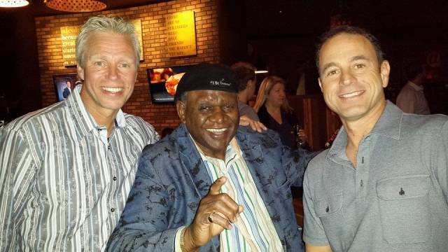 Charlie Hansen/ Co-owner, George Wallace/ Flamingo headliner, Mike Nigro/ Co-owner