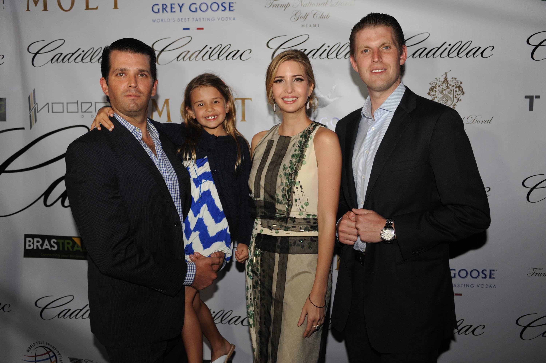 Donald Trump Jr. with Daughter Kai Madison, Ivanka and  Eric Trump