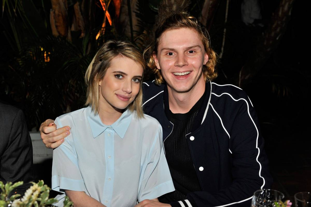 Emma Roberts & Evan Peters_Sandro Paris Celebration_3.20.2014