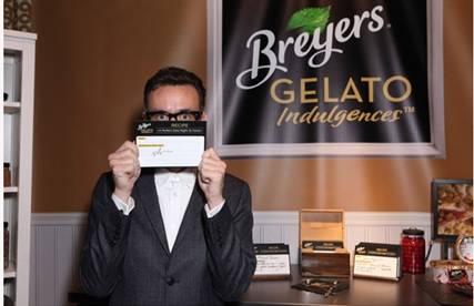 Fred Armisen at the Breyers Gelato Indulgences lounge backstage at the Spirit Awards