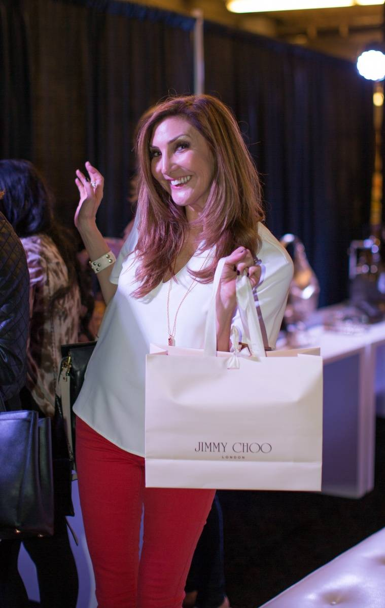 Heather McDonald shopping at the Lakers and Jimmy Choo Shopping Event benefitting Lakers Youth Foundation