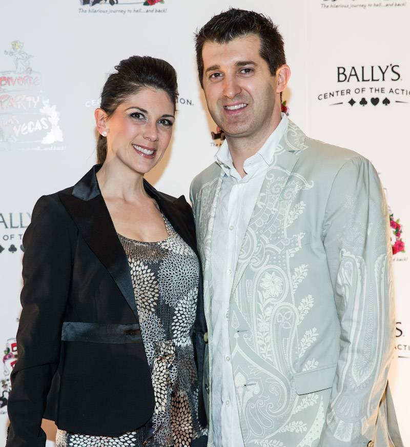 Marc Savard and wife Joanna at Divorce Party Las Vegas Red Carpet (photo credit Erik Kabik_Retna)