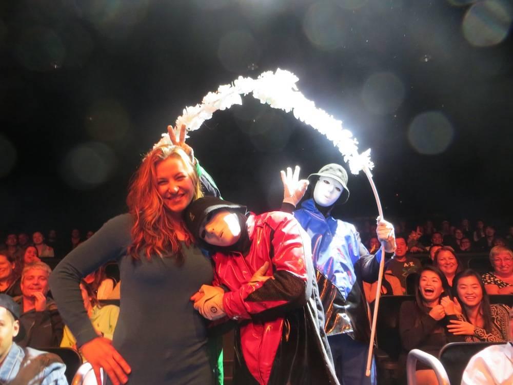 Miesha Tate and Jabbawockeez, Photo Credit- Jabbawockeez