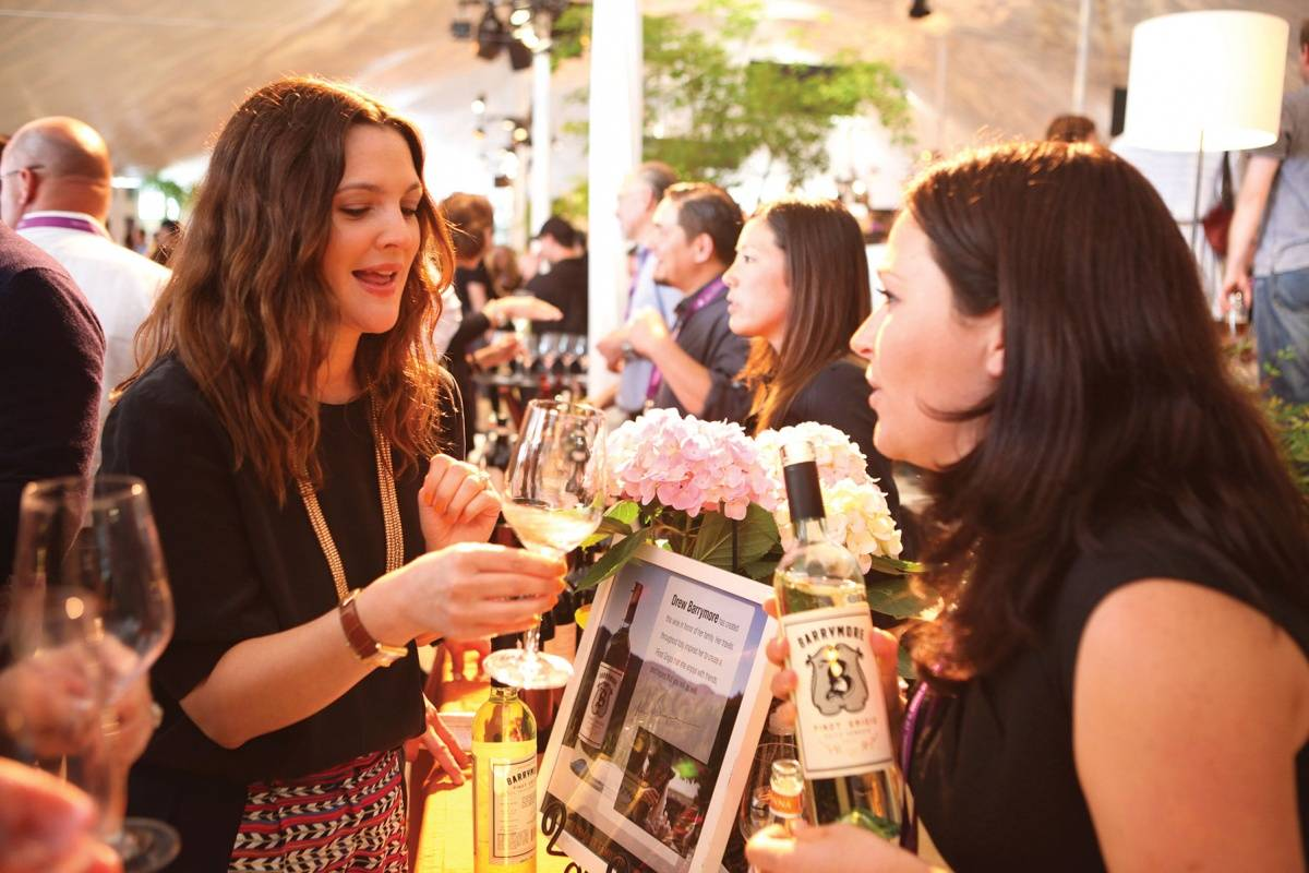 Drew Barrymore at the Lexus Grand Tasting Tent, Pebble Beach Food & Wine 2013