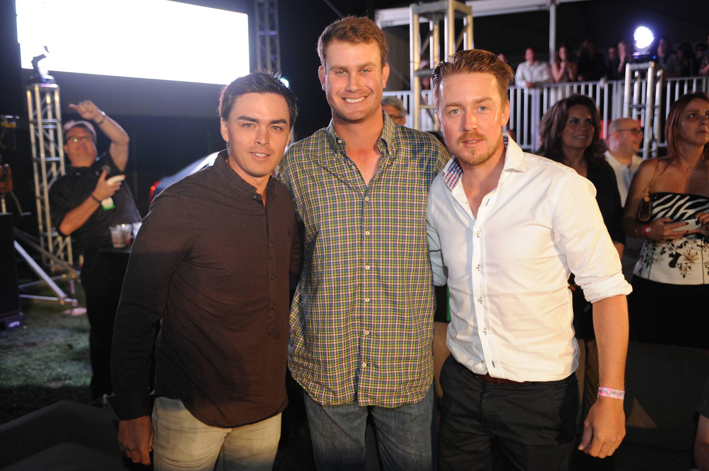 Professional Golfers Rickie Fowler, Harris English and Jonas Blixt