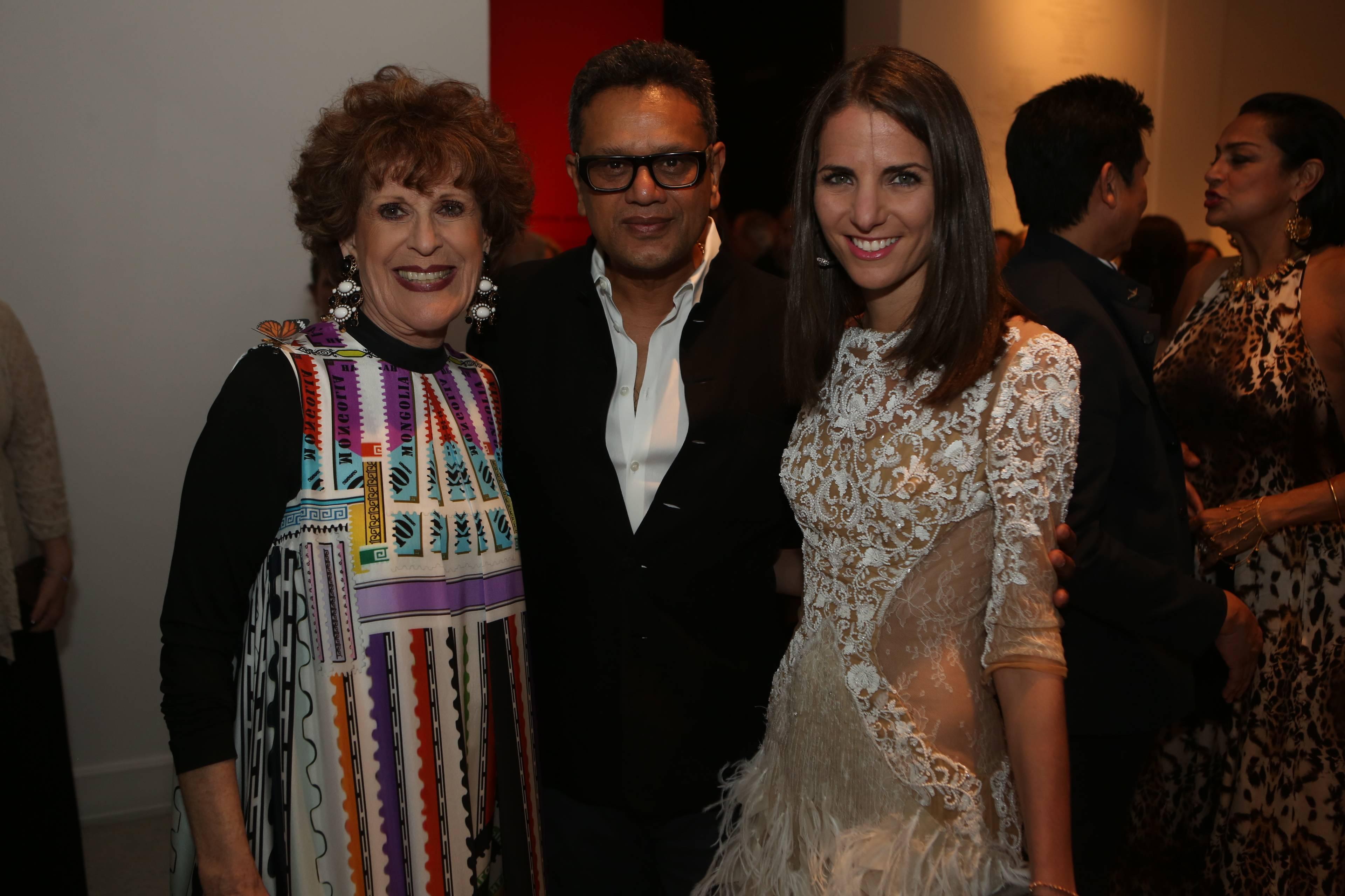 Sandy Schreier, Naeem Khan, & Friend