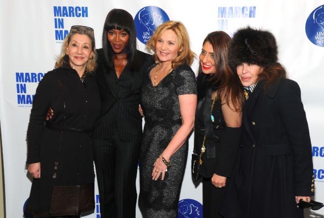 Susan Goodfriend, Naomi Campbell, Kim Catrall, Muna Rihani Al Nasser and Jana Jaffe