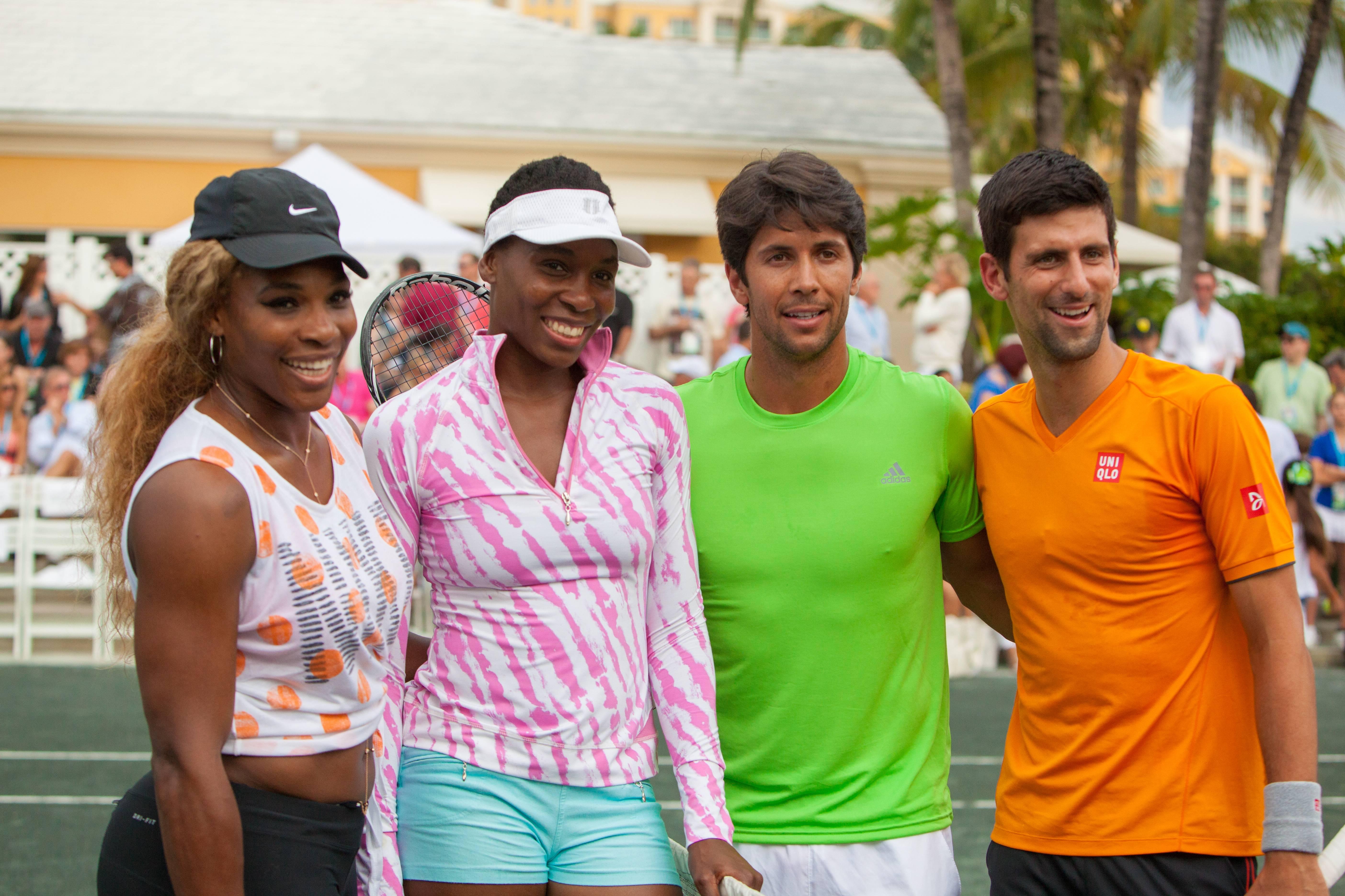 Serena&VenusWilliamsFernandoVelascoNovakDjokovic
