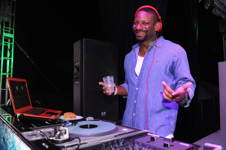 The Miami Heat's DJ Irie at Fashion Friday