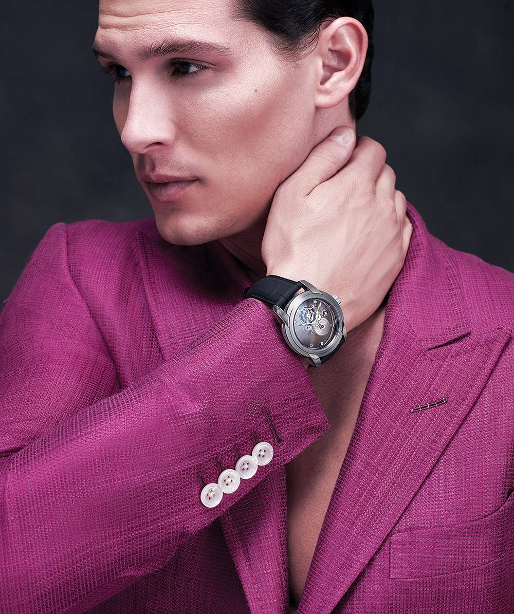 TOM FORD Silk cotton jacket  $4,020 www.tomford.com blancpain Carrousel Sapphire $259,000 www.blancpain.com