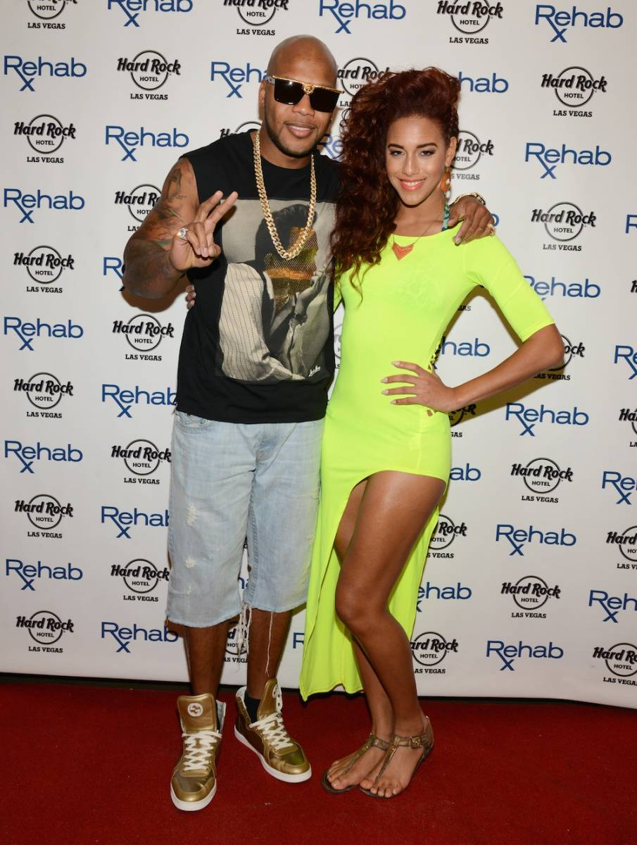 04.13_Flo Rida and Natalie La Rose_REHAB_Hard Rock Hotel_Photo Credit Scott Harrison