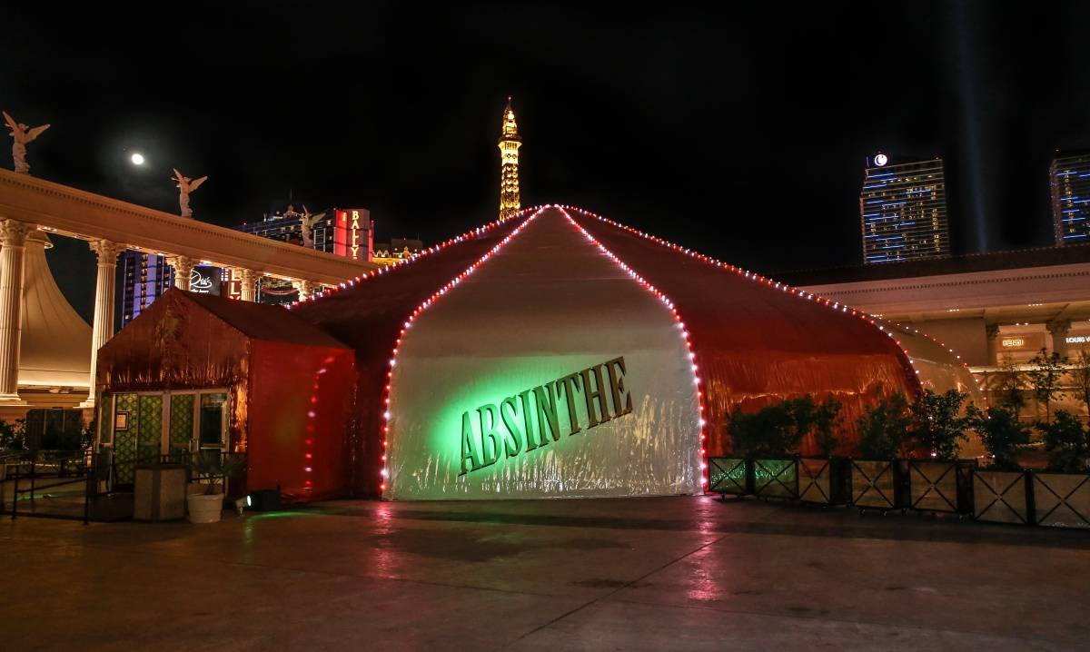 ABSINTHE Third Anniversary Tent Lighting 4.16.14 (C) Gabe Ginsberg-Vegas Kool