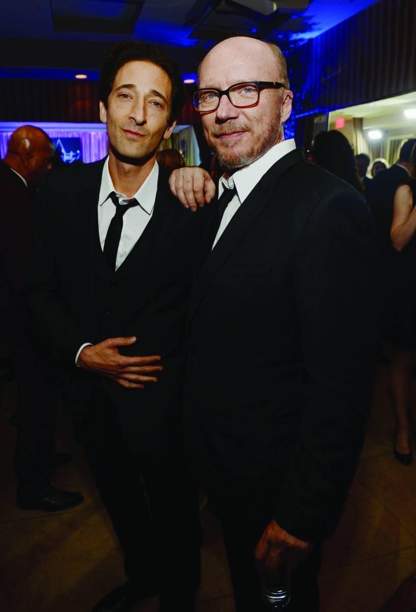Adrien Brody and Paul Haggis