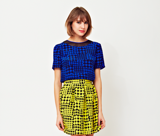 Ariana Rockefeller Fall 2014 Collection - Simi Top & Kelly Skirt