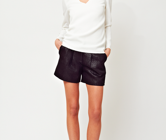 Ariana Rockefeller Fall 2014 Collection - Robbie Top and Laura Metallic Short