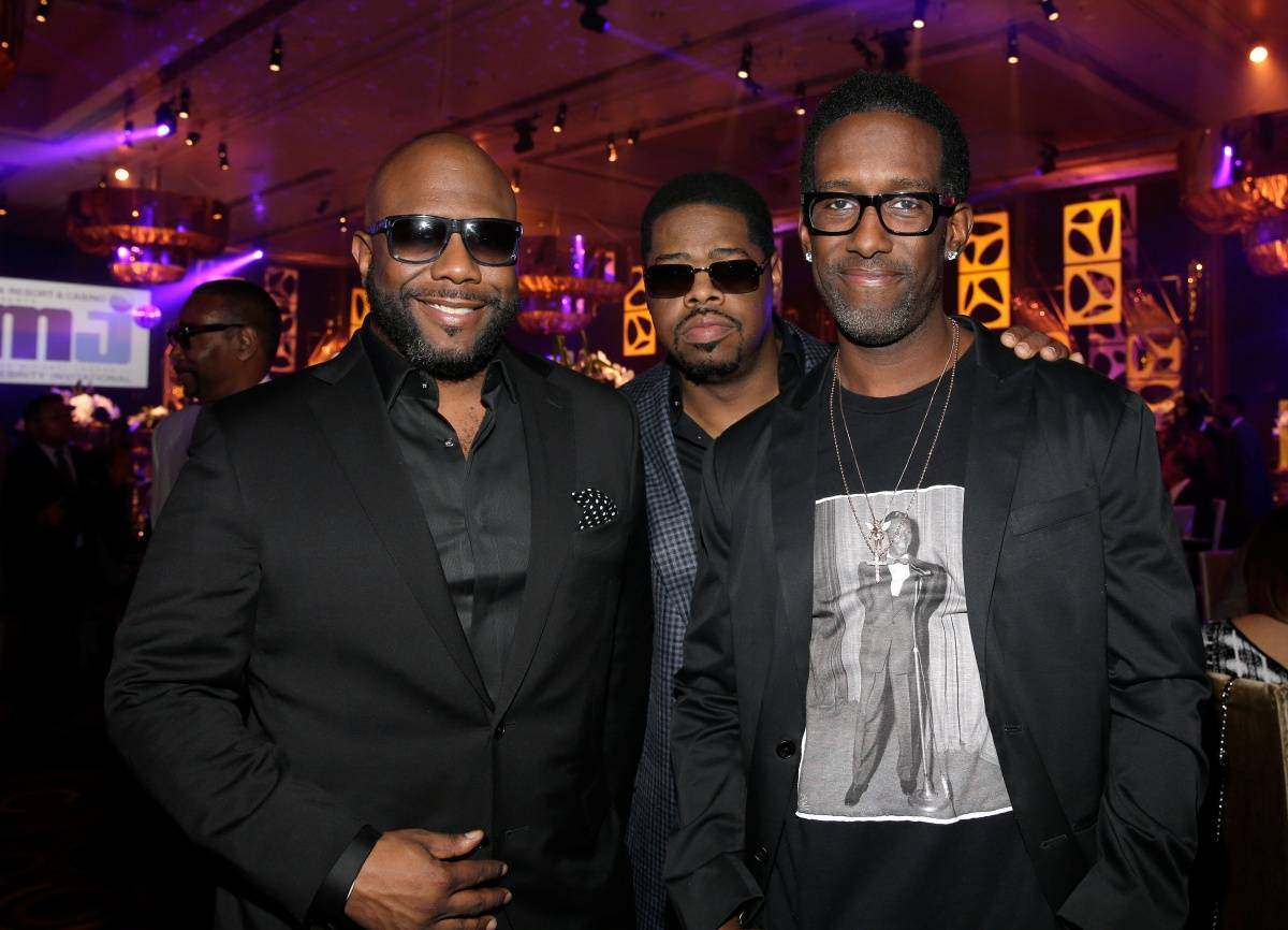 Boyz II Men Wanya Morris, Nathan Morris & Shawn Stockman at MJCI, ARIA Resort & Casio, 4.4.14